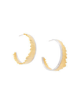 Charlotte Valkeniers Flare hoop earrings - Metallic