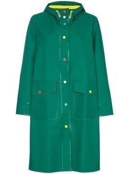 Mira Mikati long length hooded raincoat - Green