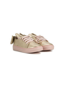 Minna Parikka Kids bunny ear sneakers - Metallic