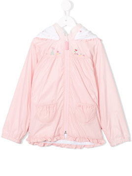 Miki House embroidered detail jacket - Pink