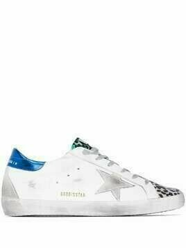 Golden Goose Super-star leopard print sneakers - White