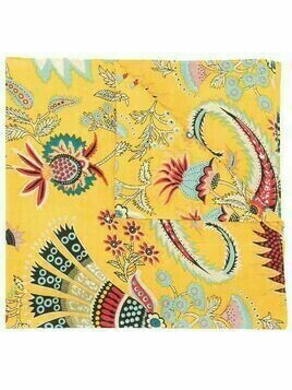 Rachel Comey Klyde Tapestry floral-print scarf - Yellow