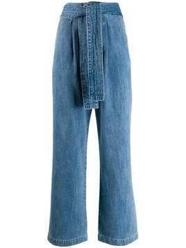 Levi's: Made & Crafted wide-leg trousers - Blue
