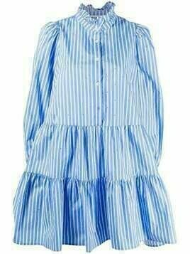 Essentiel Antwerp Zinga stripe-print dress - Blue
