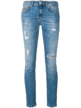 Dondup - distressed skinny jeans - Damen - Cotton/Polyester/Spandex/Elastane - 30 - Blue