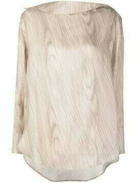Aeron wave print oversized blouse - Neutrals