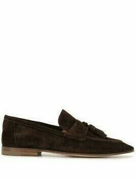 Bally tasseled suede loafers - Brown