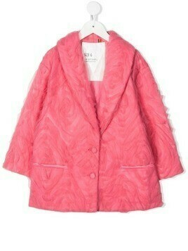 Caroline Bosmans tulle-overlay single-breasted jacket - Pink