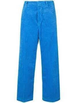 Department 5 wide leg corduroy trousers - Blue