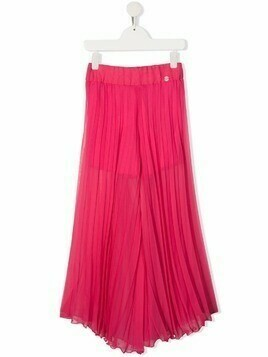 Miss Blumarine pleated wide-leg trousers - Pink