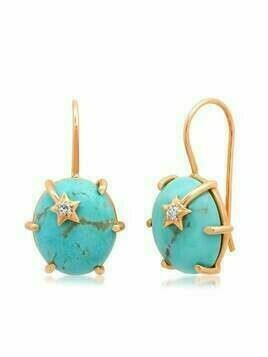 Andrea Fohrman 18kt rose gold mini turquoise Galaxy earrings - Pink