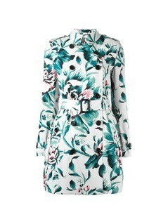 Burberry floral trench coat - Multicolour