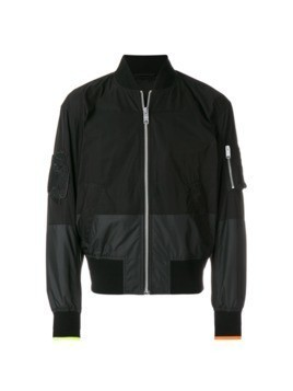Versus panelled bomber jacket - Black