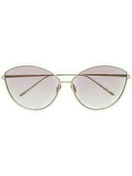 Linda Farrow cat-eye gradient sunglasses - PURPLE