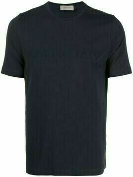 Corneliani embroidered-logo cotton T-Shirt - Blue