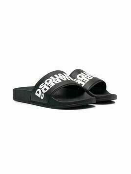 Dsquared2 Kids logo-print slides - Black