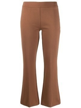 Blanca cropped kick-flare trousers - Brown