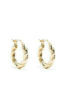 Bottega Veneta braided effect hoop earrings - Gold