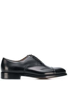 Doucal's patent Oxford shoes - Black