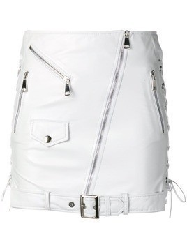 Manokhi fitted biker skirt - White