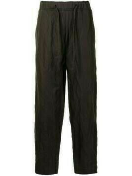 Ziggy Chen drawstring straight-leg trousers - Green