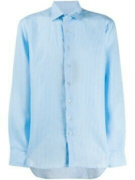Etro long sleeve boxy fit shirt - Blue