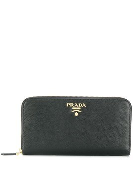 Prada logo plaque wallet - Black