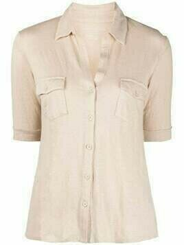 Majestic Filatures short-sleeve linen-blend shirt - Neutrals