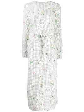 Essentiel Antwerp Tata dotted shirt dress - White