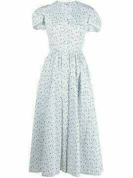 Vivetta floral-print tea dress - White