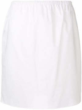 Jil Sander Navy elasticated waist skirt - White
