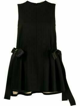 Adam Lippes bow-detail sleeveless top - Black