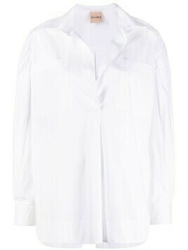 Nude button-up shirt - White
