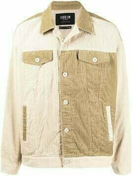 FIVE CM panelled button-up corduroy jacket - Brown
