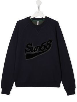 Sun 68 TEEN logo sweatshirt - Blue