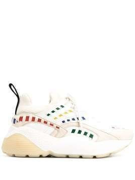 Stella McCartney Eclypse rainbow interwoven sneakers - White