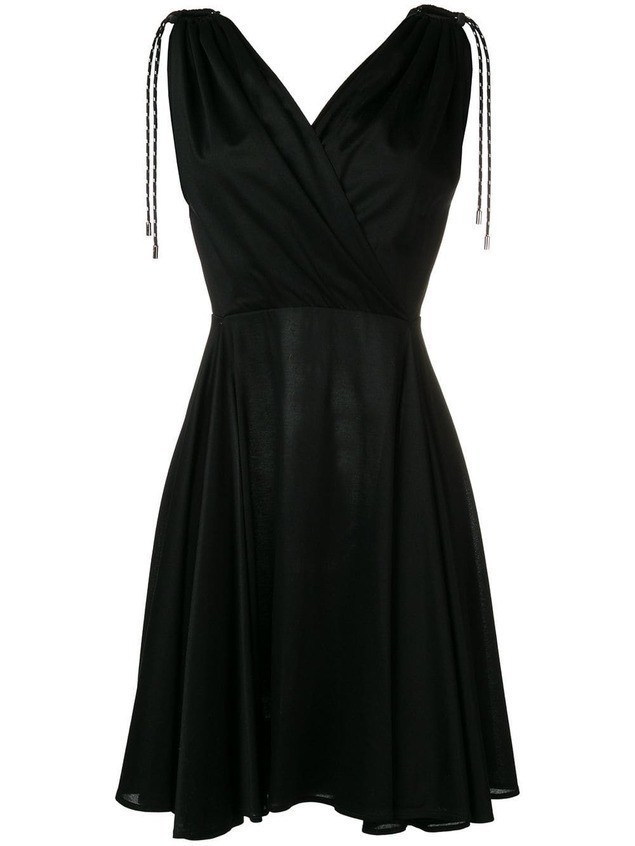 Neil Barrett tie shoulder dress - Black