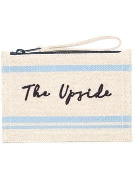 The Upside stitched logo clutch bag - Neutrals