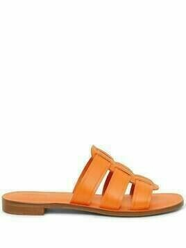 Mansur Gavriel Caprese leather slides - Orange