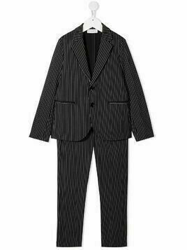 Paolo Pecora Kids pinstripe two piece suit - Blue