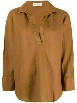 Mes Demoiselles V-neck linen blouse - Brown