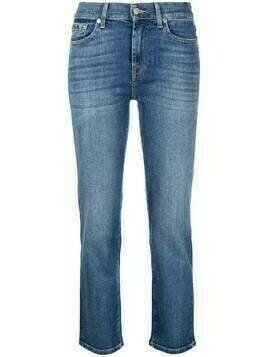 7 For All Mankind high-rise straight-leg jeans - Blue