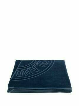 Stone Island Junior compass logo-print cotton towel - Blue