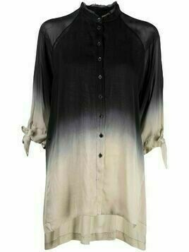 Masnada dip-dyed silk blouse - Black