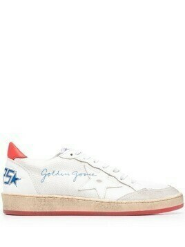 Golden Goose Ball Star leather sneakers - White