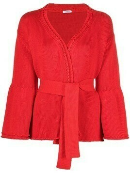 P.A.R.O.S.H. Capsicum belted wrap cardigan - Red