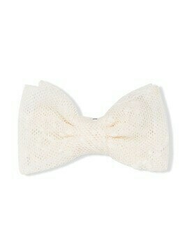 Bonpoint bow-detail hair clip - White