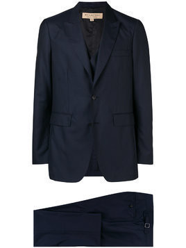 Burberry slim-fit three-piece suit - Blue