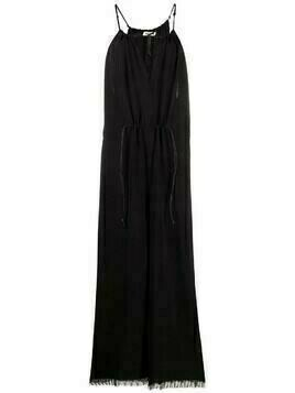 Aeron Fauna fringed-edge jumpsuit - Black