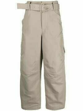 Bottega Veneta belted cotton trousers - Neutrals